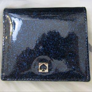 NWT Kate Spade Blue Glitter Serenade Wallet
